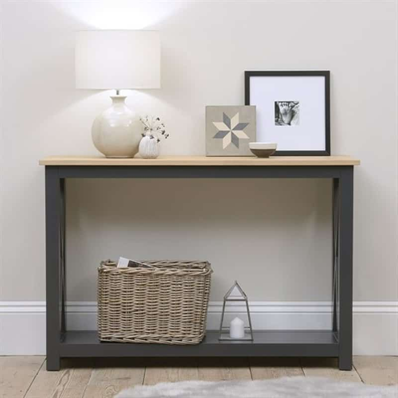 Ellwood Charcoal New Console Table
